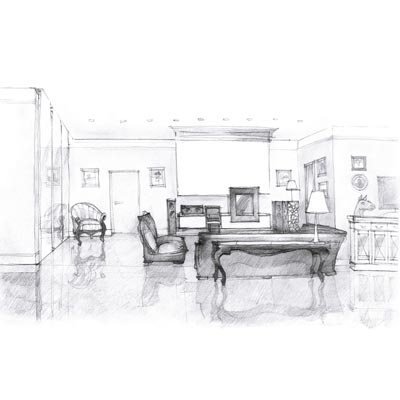 Draw your Living Room Picture