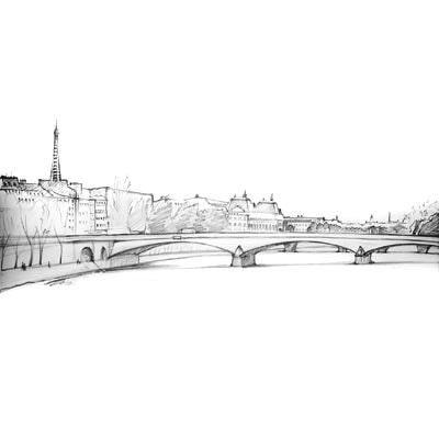 Draw Landscape with Bridge Picture