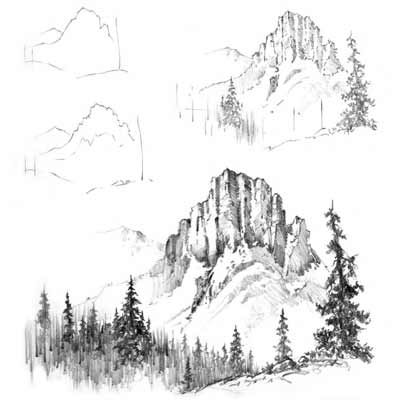 Draw a Mountain Picture