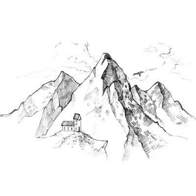Draw Mountain Range Picture