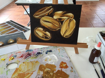 "Oil Painting Lesson ""How to Paint Gold"""