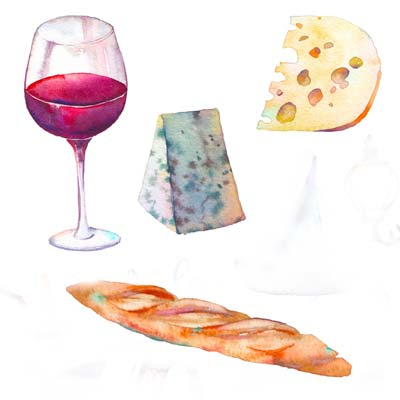 Cheese and Wine Picture