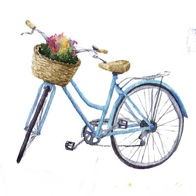 Bicycle with Basket Picture