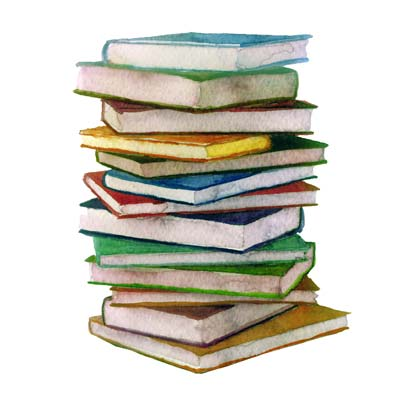 Paint stacked books Picture