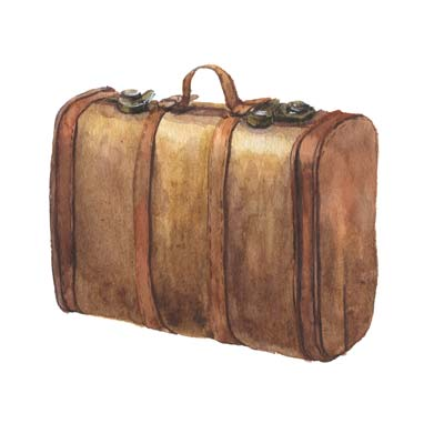 Paint Old Suitcase Picture